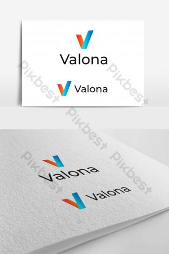 plantilla de logotipo de letra v abstracto Elementos graficos Modelo AI
