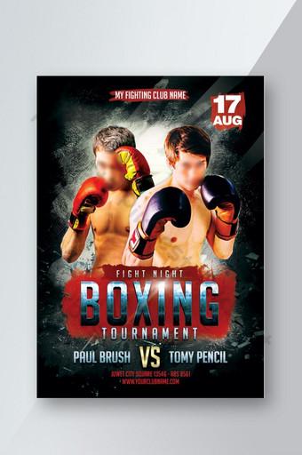 Promotion de la circulaire du tournoi de boxe Modèle PSD