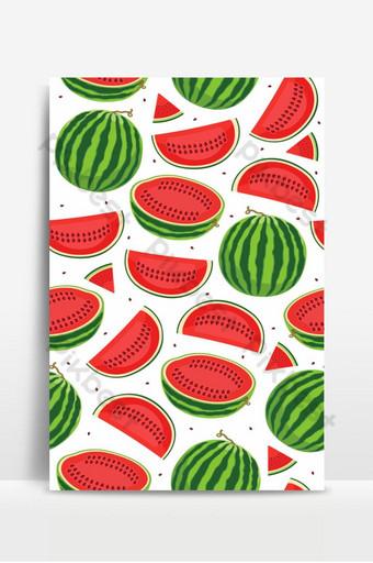 Patrón sin fisuras con sandías rebanada de sandía sobre fondo blanco frutas tropicales Fondos Modelo EPS