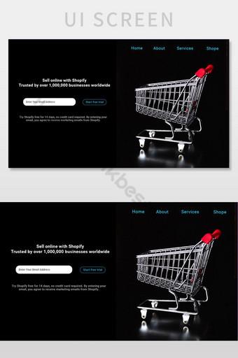 diseño de tienda de interfaz de usuario de comercio electrónico psd UI Modelo PSD