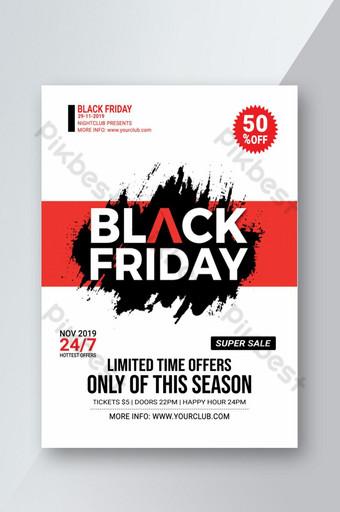 Flyer de vente du vendredi noir Modèle PSD