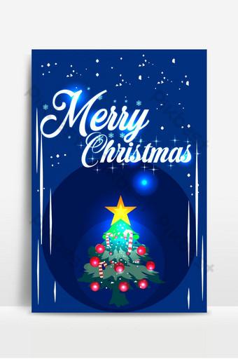 Fond d'affiche moderne joyeux Noël Fond Modèle AI