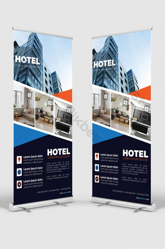 unique hotel room sell roll up design - 07 Template AI