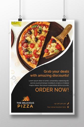 folleto de pedido de pizza folleto de restaurante Modelo PSD