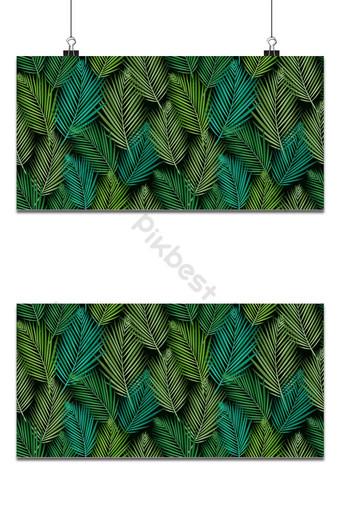 patrón sin costuras con hojas tropicales palmeras monstera selva hoja vector transparente Fondos Modelo EPS