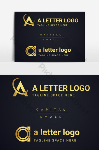 Letra a logo con diseño de lujo. Elementos graficos Modelo AI
