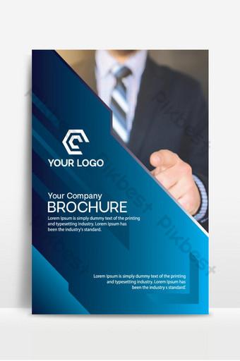 folleto corporativo y diseño de logotipo. Modelo AI
