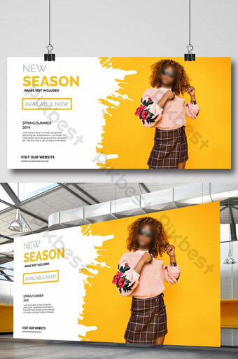 New Season sales banner for fashion and footwear Template AI