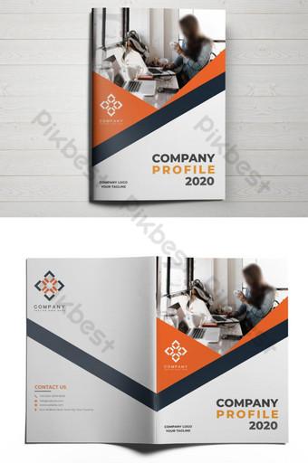 Фирменный практичный и минималистичный профиль обложки брошюры шаблон AI