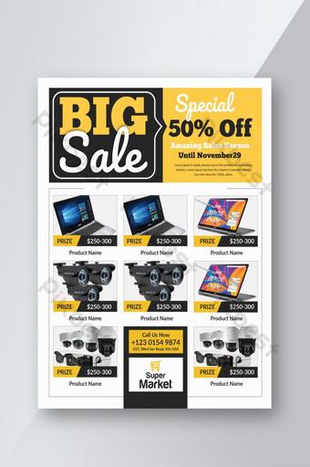Flyer de promotion de produits de grande vente Modèle PSD