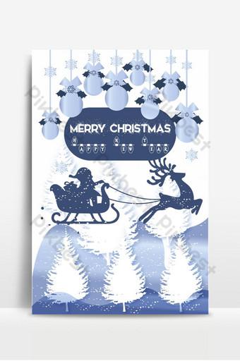 fondo de cartel de navidad de nieve blanca Fondos Modelo AI