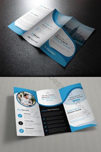 бизнес корпоративная брошюра trifold шаблон PSD