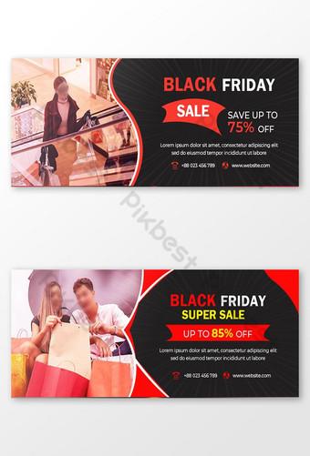 gambar sampul facebook jumat hitam Templat PSD