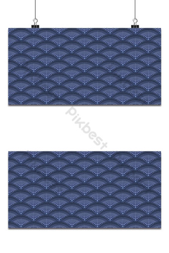 Sea - ocean wave, asian seamless pattern, abstract ornament, japan - china background. Backgrounds Template EPS
