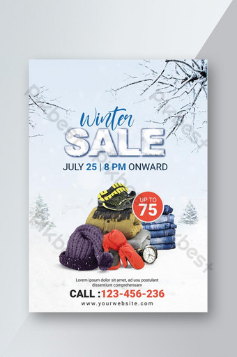 folleto de psd de venta de invierno Modelo PSD