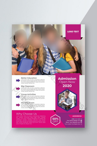 Modèle de Flyer d'admission aux collèges et universités professionnels Modèle AI