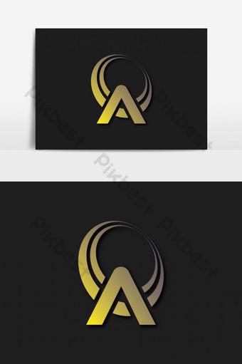 creativo un diseño de logotipo de letra Elementos graficos Modelo AI