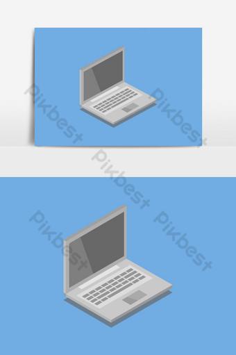 elemento gráfico de vector de icono de laptops Elementos graficos Modelo EPS