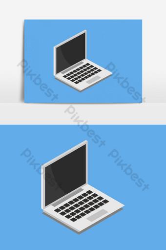 elemento gráfico de vector de icono de computadora portátil Elementos graficos Modelo EPS