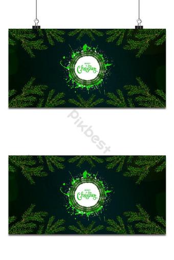 اللون الأخضر تصميم خلفية عيد الميلاد خلفيات قالب AI