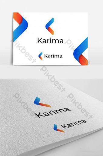logotipo de letra k abstracto diseño de marca Modelo PSD
