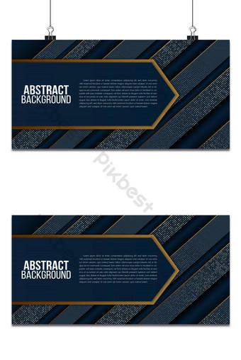 Fondo de lujo dorado abstracto con formas de papeles textura realista con semitono dorado Fondos Modelo EPS