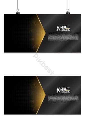 Estera de fondo abstracto negro geométrico elegante futurista luz brillante con línea de cuadrícula Fondos Modelo AI