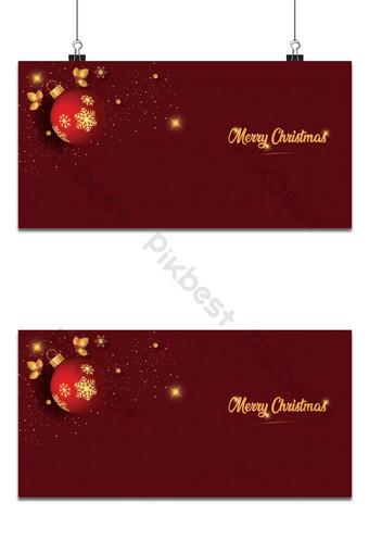 plantilla de fondos de fondo de navidad de color dorado rojo oscuro Fondos Modelo AI