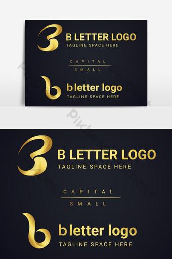 logo de letra b con diseño de lujo Elementos graficos Modelo AI