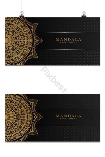 تصميم خلفية ماندالا الحديثة الفاخرة مع الفن العربي 5 خلفيات قالب AI