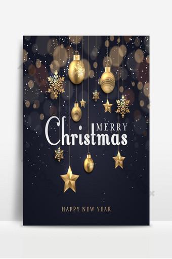 fondo de navidad con puntos brillantes estrellas doradas claras burbujas copos de nieve Fondos Modelo PSD