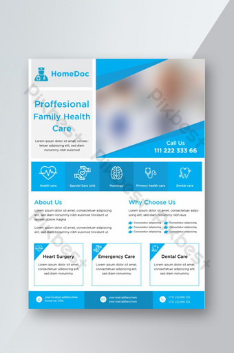 Doctor Advertisement Medical Services Promotional Flyer Template AI