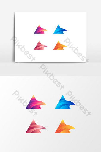 huruf gradien warna-warni modern set desain logo Elemen Grafis Templat AI