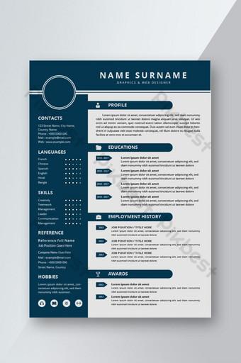Simpleng Modernong Ipagpatuloy ang disenyo ng template ng CV para sa pakikipanayam Word Template DOC