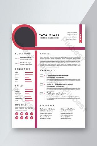 Mẫu CV Sơ yếu lý lịch HỒNG chuyên nghiệp cho cuộc phỏng vấn phụ nữ Word Bản mẫu DOC