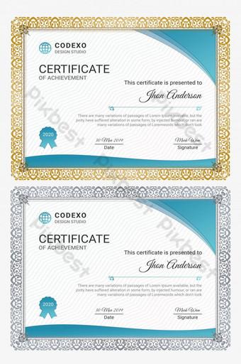podziękowanie za osiągnięcia ocena wdzięczność certyfikat Szablon PSD