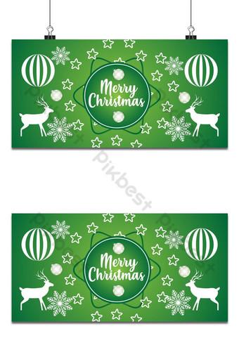 عيد الميلاد الإطار الأخضر وتصميم الخلفية خلفيات قالب AI