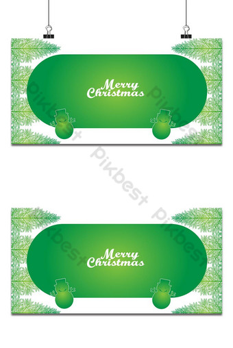 عيد الميلاد تصميم الإطار الأخضر خلفيات قالب AI