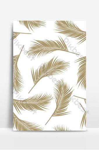 patrón sin costuras con hojas de palmeras doradas Fondos Modelo EPS