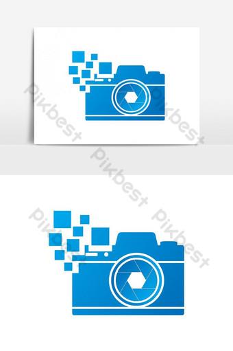 Diseño de vector de icono de símbolo de logotipo de cámara dslr digital creativa Elementos graficos Modelo AI