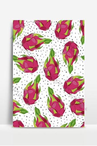 Patrón sin fisuras de la fruta del dragón con semillas sobre un fondo blanco cactus exóticos tropicales Fondos Modelo EPS