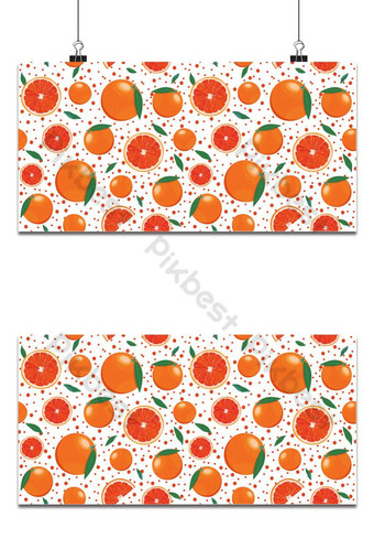 Frutas de naranja y rebanada de patrones sin fisuras con brillantes sobre fondo blanco pomelo Fondos Modelo EPS
