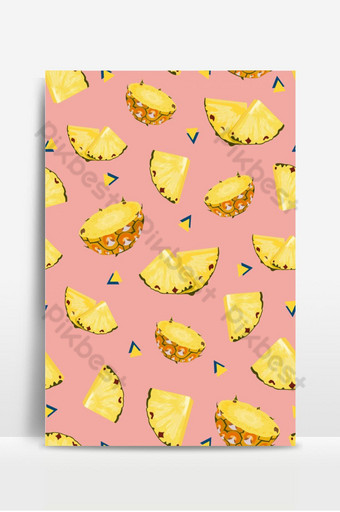 piña frutas rebanada de patrones sin fisuras sobre fondo rosa fondo de verano ananas Fondos Modelo EPS