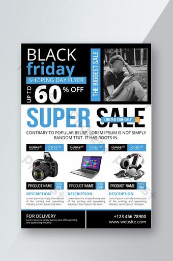 Conception graphique de flyer vente vendredi noir Modèle AI