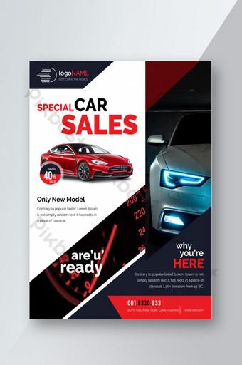Modèle de Flyer de vente de voiture Modèle AI