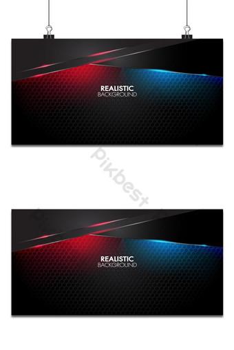 estera abstracta negra fondo geométrico elegante futurista brillante luz roja y azul Fondos Modelo AI