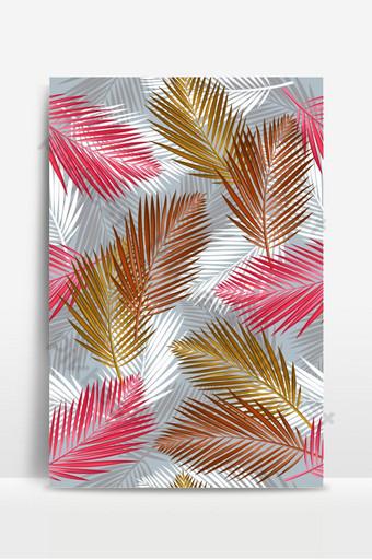 patrón sin costuras con palmeras tropicales deja hojas de la selva botánico Fondos Modelo EPS