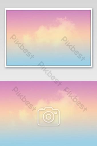 hermoso cielo y nubes en suave color pastel suave nube en el fondo del cielo Fotografía Modelo JPG