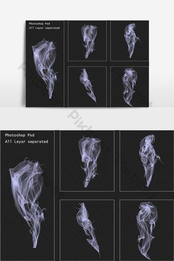 conjunto de efectos de humo realista Elementos graficos Modelo PSD