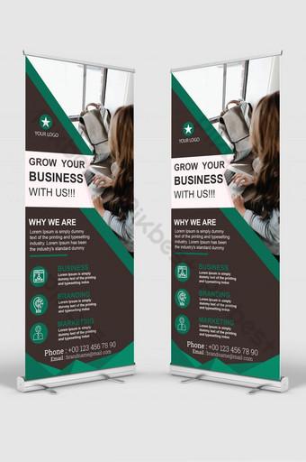 negocio de la empresa enrollar plantilla de diseño de banner Modelo AI